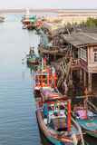 Fishing Village in Chumphon Province Thailand Stock Photo