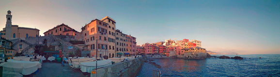 Fishing village in the city. In Genova there is this awesome fishing village Stock Image