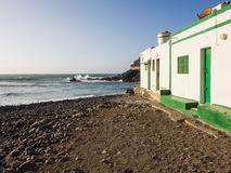 Fishing village at the coast of the Atlantic ocean, Canaries Royalty Free Stock Photography