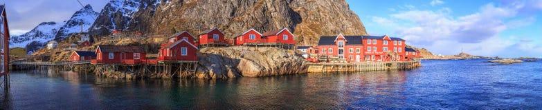 Fishing village. On the coast of Lofoten, Norway Stock Image