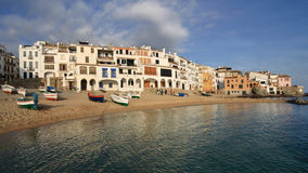 Fishing village in Costa Brava Stock Images