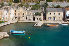 Fishing village in Croatia Royalty Free Stock Photo