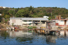Fishing village in Cuba stock images