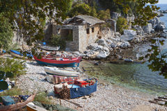 Fishing village at Damouchari in Greece Royalty Free Stock Photos