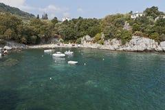 Fishing village at Damouchari in Greece Royalty Free Stock Photos
