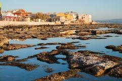 Fishing village at dawn Royalty Free Stock Image