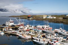 Fishing Village Djupivogur Harbour, Iceland Royalty Free Stock Photos