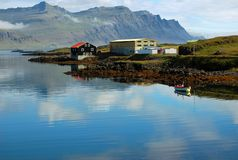 Fishing village, Djupivogur, Iceland. This is a beautiful landscape of a traditional fishing village in Iceland called Djupivogur Royalty Free Stock Photography