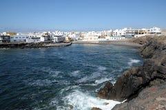 Fishing village El Cotillo. Fuerteventura, Spain royalty free stock photo