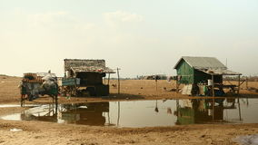 Fishing village, fishermen houses,  river life stock footage