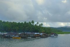 Fishing village. On the island of Siargao, Philippines Royalty Free Stock Photography