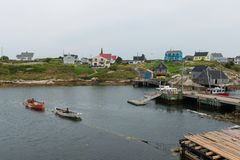 FIshing village. Peggy`s Cove, Nova Scotia, Canada Royalty Free Stock Image