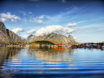 Fishing Village, Fjord Landscape, Norway Stock Photography