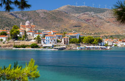 Fishing village of Galaxidi in Greece Royalty Free Stock Image