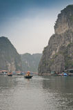 Fishing village in Halong Bay Royalty Free Stock Image