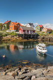 Fishing village Henningsvaer in Lofoten islands, Norway Stock Photos