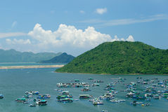 Fishing village in Hong Kong Stock Image