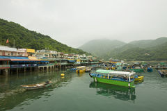 Fishing village in Hong Kong, Lamma Island Royalty Free Stock Photography