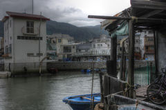 Fishing village, Hong Kong Stock Photos