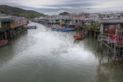 Fishing village, Hong Kong Royalty Free Stock Photos