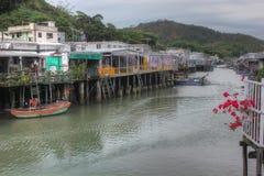 Fishing village, Hong Kong Stock Photos