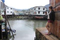 Fishing village, Hong Kong Stock Image