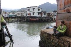 Fishing village, Hong Kong Royalty Free Stock Photos