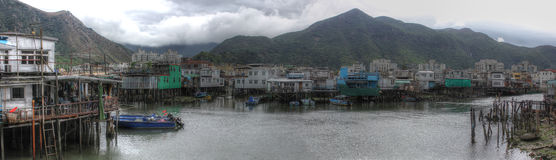 Fishing village, Hong Kong Royalty Free Stock Photo