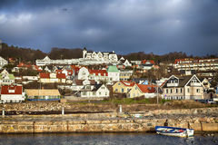 Fishing village. Image of quaint fishing village of Molle, Sweden Stock Photos
