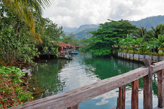 Fishing village on the island in Asia Stock Photos