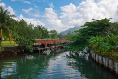 Fishing village on island in Southeast Asia Stock Photography