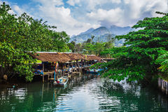 Fishing village on the island in Southeast Asia. Stock Image