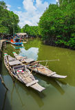 Fishing village on the island in Southeast Asia. Royalty Free Stock Photos