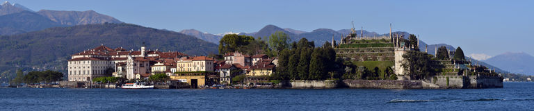 Fishing village Isola dei Pescatori on Lake Maggiore Royalty Free Stock Photo