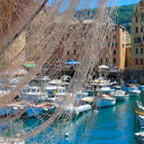Fishing village, Italy Camogli Stock Photos