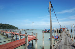 Fishing Village Jetty Stock Photography