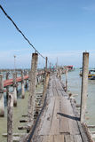 Fishing Village Jetty Stock Images