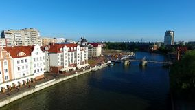 Fishing Village, Kaliningrad stock video footage