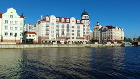 The Fishing Village in Kaliningrad stock video footage