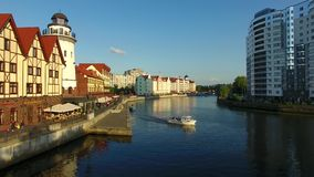 The Fishing Village, Kaliningrad stock video