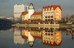 Fishing village. Kaliningrad Stock Photos