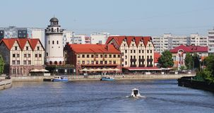 The fishing village of Kaliningrad stock video
