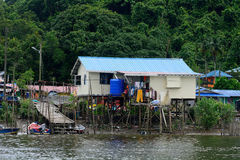 Fishing village, Kampung Salak, Borneo, Malaysia Royalty Free Stock Photography
