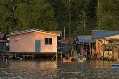 Fishing village, Kampung Salak, Borneo, Sarawak, Malaysia Stock Photos
