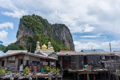 The fishing village of Koh Panyee Royalty Free Stock Images