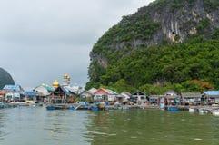 The fishing village of Koh Panyee Royalty Free Stock Photos