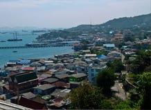 Fishing Village at Koh Si Chang stock images