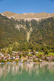 Fishing village in Lake Brienz. Switzerland Royalty Free Stock Photos