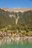 Fishing village in Lake Brienz Royalty Free Stock Photos