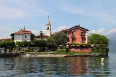 Fishing village on Lake Maggiore Stock Photo